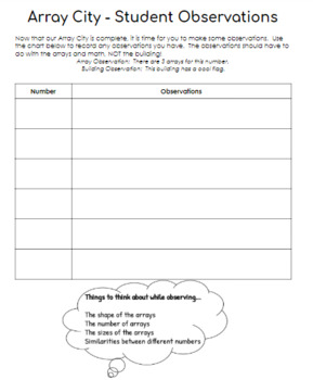 Array City - Teaching Plan and Student Handouts