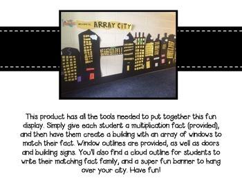 Array City (a multiplication project)