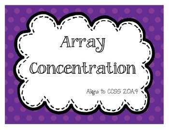 Array Concentration/Memory (CCSS 2.OA.4)