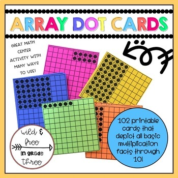 Array Dot Cards - Multiplication Strategy