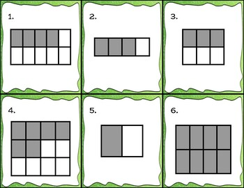 Array Fractions - 30 Task Cards - Color and Black/White