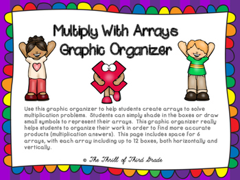 Multiplication: Arrays Graphic Organizer
