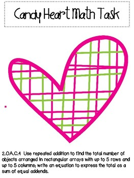 Valentine's Day Array Math Task
