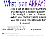 Array Mini Poster and Array Worksheet