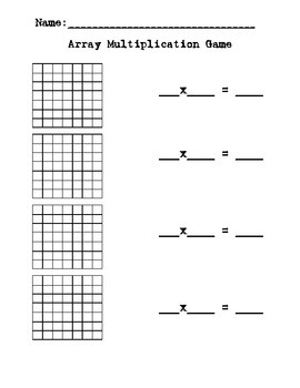 Array Multiplication Game