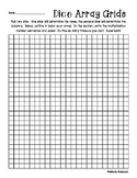 Arrays Multiplication Practice: Dice Activity - Grid Paper