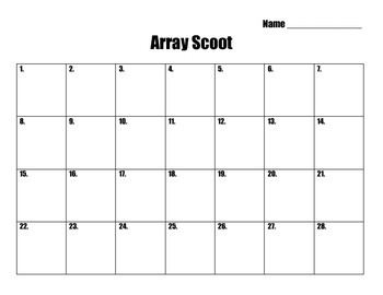 Array Multiplication Scoot