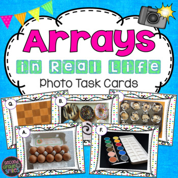 Array Photo Task Cards (Arrays in Real Life)