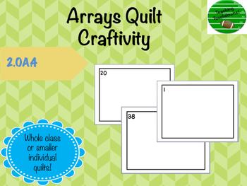 Array Quilt Craftivity