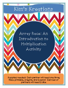 Array Race: An Introduction to Multiplication Activity