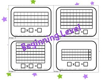 Array or Area Model Multiplication Task Cards Perseverance Required!  4.NBT.5