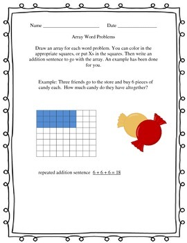 Array Word Problems with Repeated Addition and Multiplication