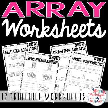 Array Worksheets - 2.OA.4