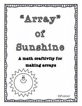 """Array"" of Sunshine Math Craftivity {CCSS 2.2.3.A.1}"
