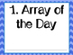 Array of the Day Morning Work Multiplication Practice (Common Core Aligned)