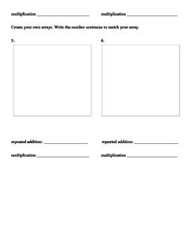 Array worksheet