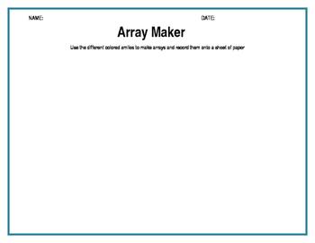 Array worksheets