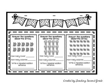 Repeated Addition Arrays Worksheets
