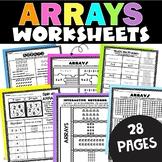 Arrays   Repeated Addition Arrays   Multiplication Arrays Worksheets