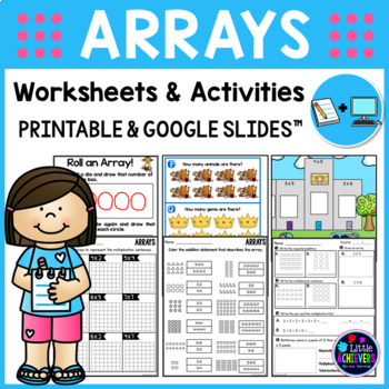 Arrays Worksheets 2nd Grade | Repeated Addition Arrays