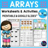 Multiplication Arrays Worksheets & Google Slides (Repeated Addition Worksheets)