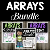 Arrays Worksheets | Arrays Puzzles | Arrays Activity | Bundle