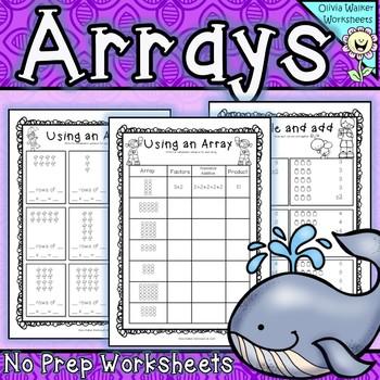 Arrays Worksheets - Grade Two Math Standard - First Multiplication Printables