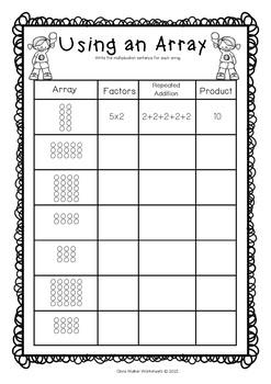 arrays worksheets grade two math standard first. Black Bedroom Furniture Sets. Home Design Ideas