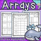 Arrays Worksheets - Grade Two Math Standard - First Multip