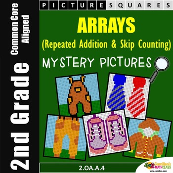 2nd Grade Repeated Addition With Arrays Worksheets Mystery Pictures