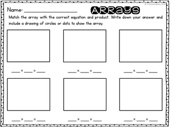 Arrays and Repeated Addition Cards - Arrays Center