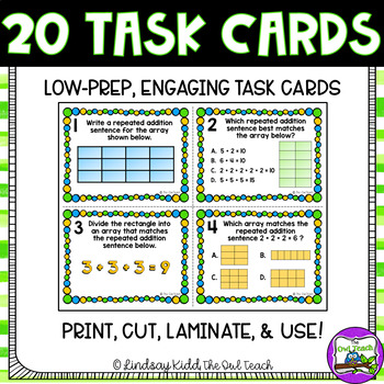 Arrays Activities:  Arrays Task Cards for Repeated Addition