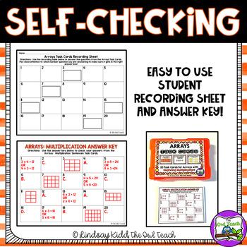 Arrays Activities:  Task Cards for Beginning Multiplication