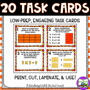 Arrays Activities:  Task Cards for Beginning Multiplication