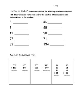 Arrays, Addition, and Subtraction, OH MY!