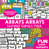 Arrays Activities Math Centers and Worksheets for Multipli