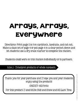 Arrays, Arrays, Everywhere