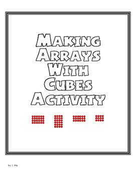 Arrays Cubes Activity