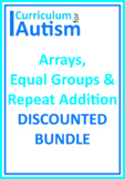 Arrays Equal Groups Repeat Addition BUNDLE Autism Classroo