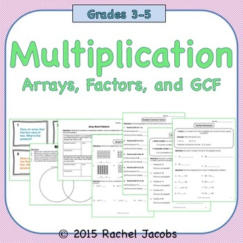 Arrays, Factors, Greatest Common Factor