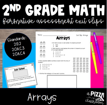 Arrays Formative Assessment Pack
