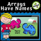 Boom Cards | Arrays Have Names - Intro to Multiplication | Distance Learning