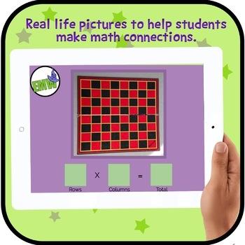 Arrays Interactive Digital Task Cards with Real Life Photos