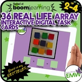 Arrays Interactive Digital Task Cards with Real Life Photos