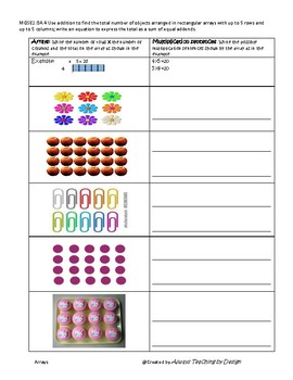 Arrays Interactive Worksheets