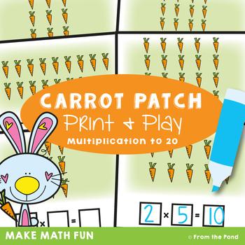 Arrays Math Center Activity - Carrot Patch