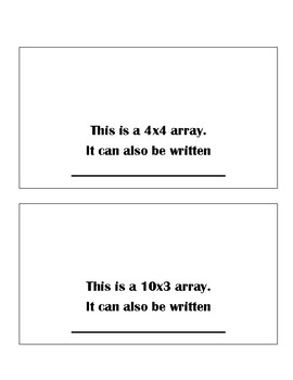 Arrays Mini Book