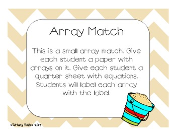 Arrays : Multiplication Common Core 2.OA.4