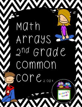 Arrays & Multiplication Second Grade Common Core Aligned
