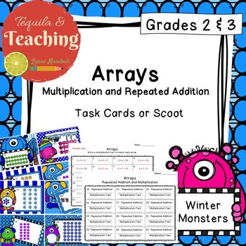 Arrays: Multiplication Task Cards
